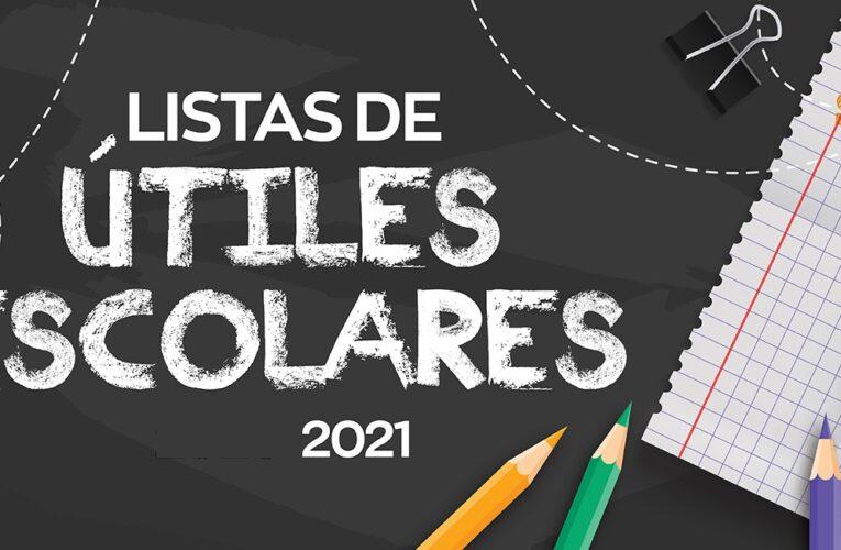Listas de útiles 2021